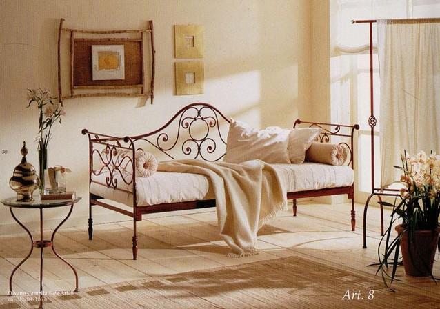 Divano letto camelia vendita on line di letti in ferro for Divani matrimoniali