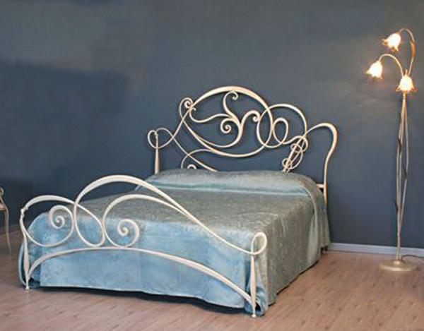 Letto gardenia matrimoniale vendita on line di letti in for Letti a castello in ferro battuto